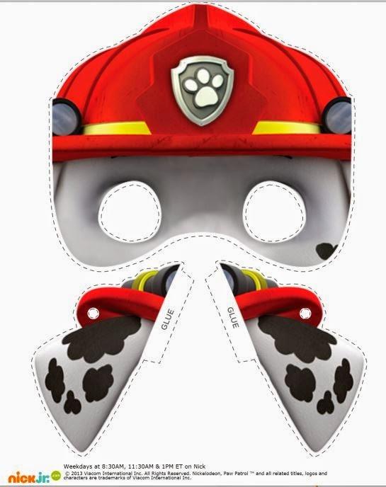Как сделать из бумаги маску щенячий патруль 33