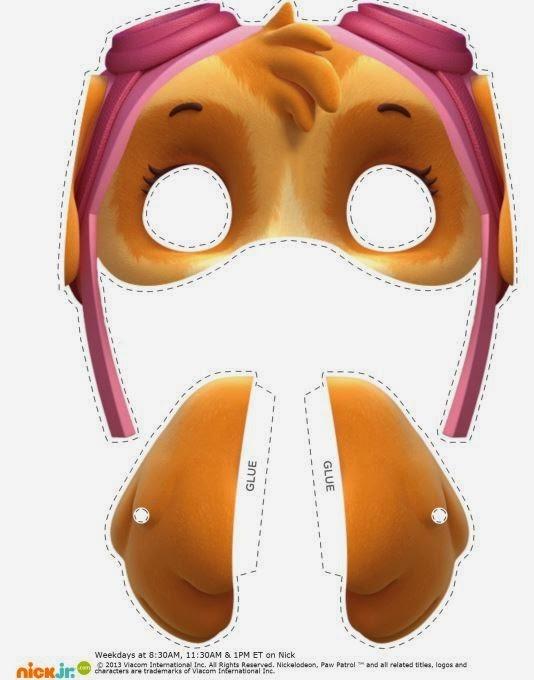 Как сделать из бумаги маску щенячий патруль 44